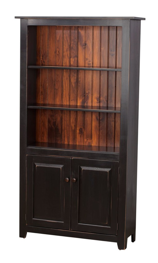 Bookcase With Doors With Finish Back Stock Swap