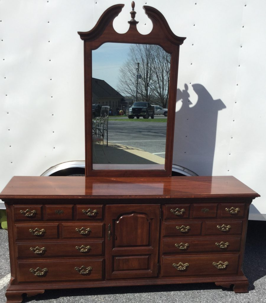 Thomasville Cherry Dresser With Mirror Stock Swap Furniture Consignment