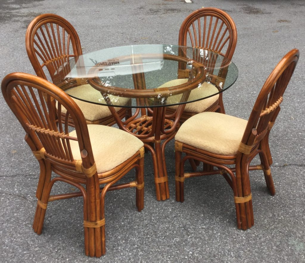 round bamboo glass table with 4 chairs stock swap furniture round bamboo glass table with 4 chairs