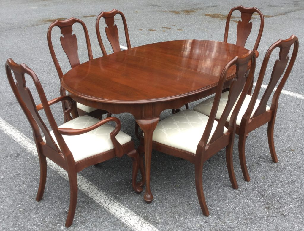 Harden Cherry Dining Table With 6 Chairs - Stock Swap Furniture ...