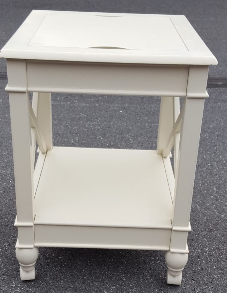 white end table with hanging file - Hanging End Tables