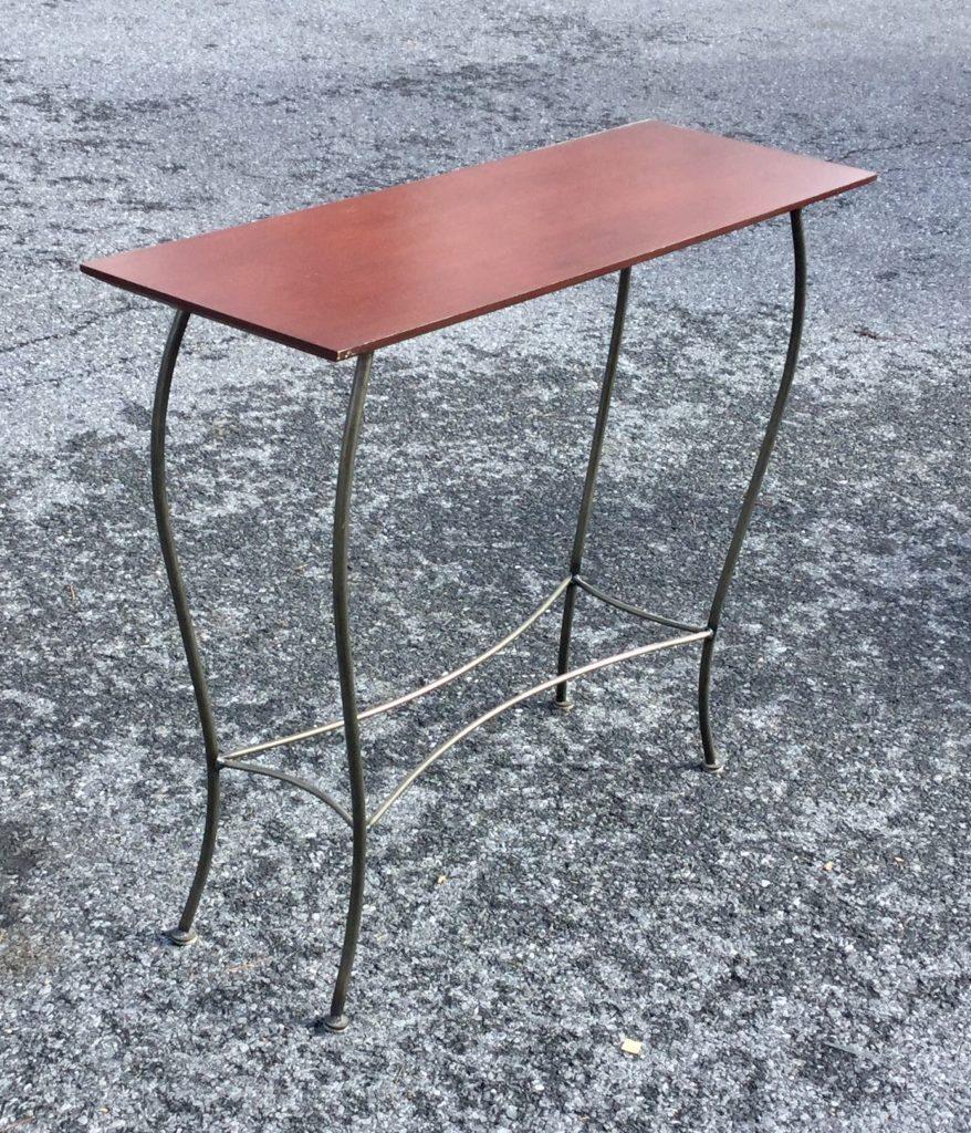 metal hall tables. Wood/Metal Hall Table Metal Tables