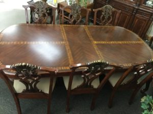 Monroe Cherry Table With 10 Chairs