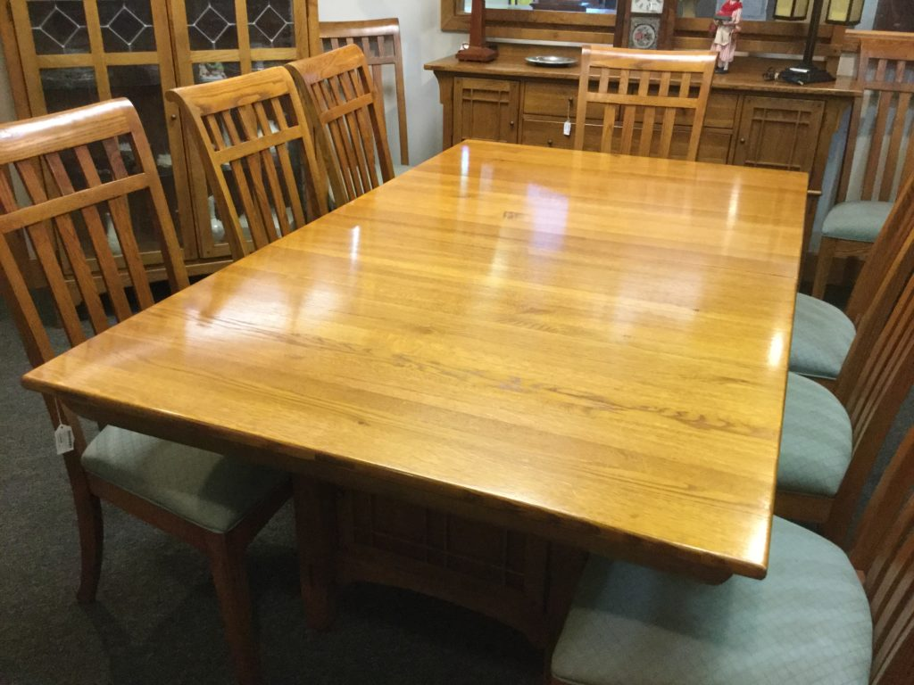 Bob Timberlake Oak Dining Table W 10 Chairs